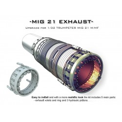 MIG 21 EXHAUST For 1/32 TRUMPETER MIG 21 M/MF