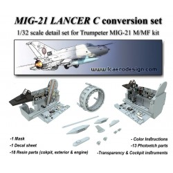 MIG 21 LANCER Conversion Kit For 1/32 TRUMPETER MIG 21 M/MF
