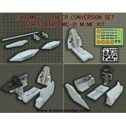 MIG 21 LANCER Conversion Kit For 1/48 EDUARD MIG 21 M/MF